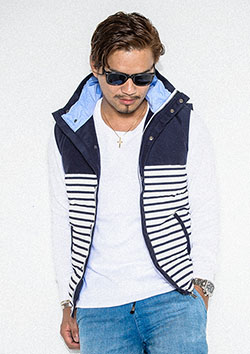 RESOUND CLOTHING 64BORDER DOWN VEST