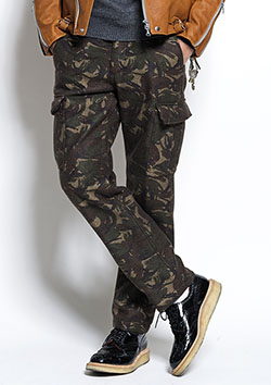 SEVESKIG NEEDLE-PUNCH ARMY PANTS