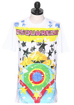 DSQUARED2 PRINTED COTTON-JERSEY T-SHIRT