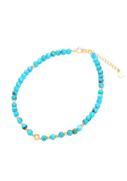 A.O.I BIRTHDAY STONE TURQUOISE ANKLET