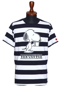 SEVESKIG SNOOPY YES COFFEE T-SHIRT