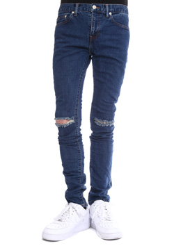 WVM 1ST LN DMG WASH DENIM PANTS