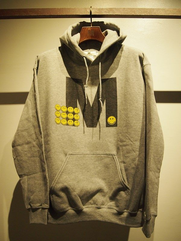 Mエム 17SS-MSW008 pull over hood parka(Happy M) heather gray ¥12,000(税抜)