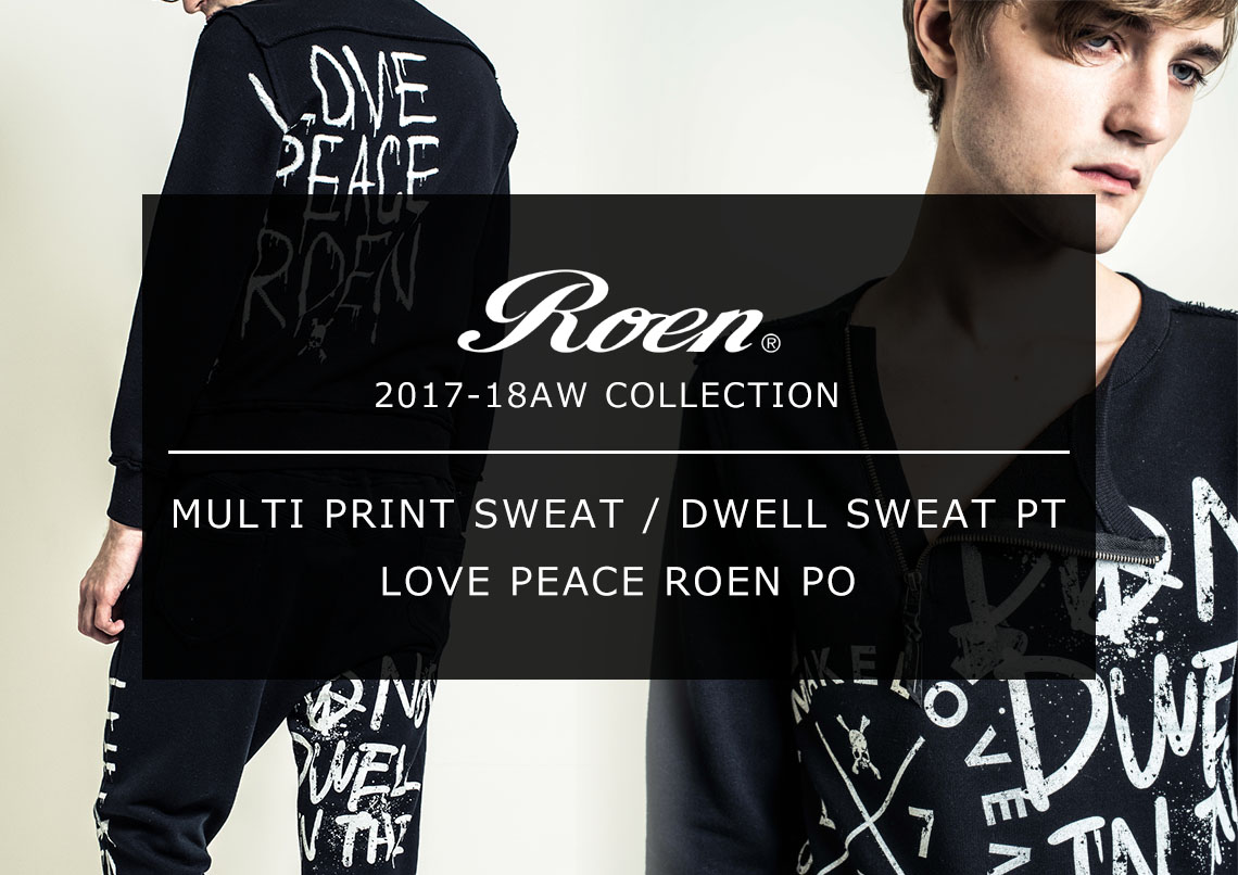 Roen 2017-18AW COLLECTION LOGO PRINT SERIES
