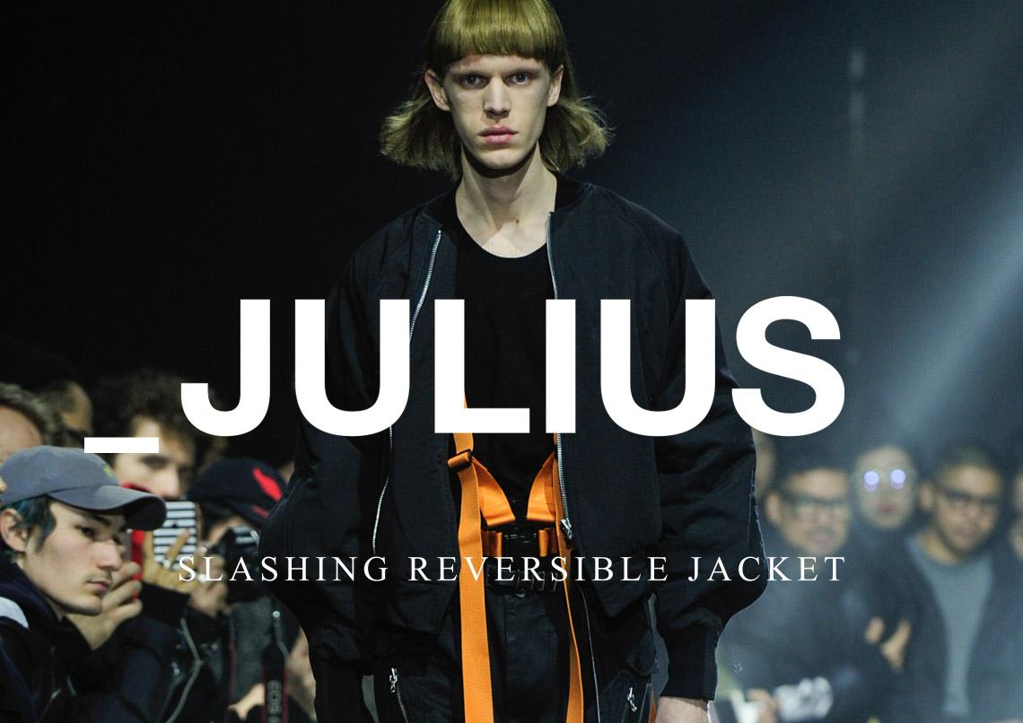 JULIUS ユリウス 597BLM2 SLASHING REVERSIBLE JACKET スラッシングリバーシブルジャケット 2017-18AW 2017-18秋冬 通販 全国発送可能