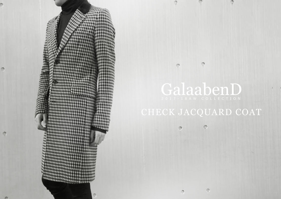 GalaabenD 2017-18AW check Jacquard coat 87340607