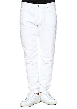 DELAY RIB KNIT DENIM PANTS