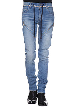 CHRISTIAN DADA SIGNATURE SUPER SKINNY ZIP JEAN