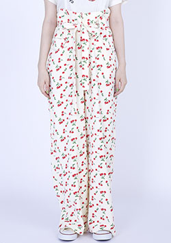 little sunny bite CHERRY PRINT TOWEL PANTS