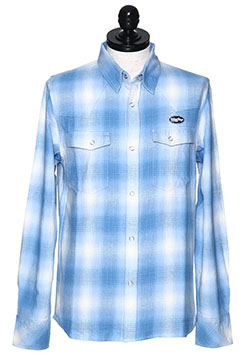M ORIGINAL SMOKY OMBRE CHECK WESTERN SHIRTS