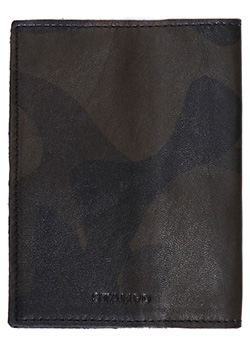 STAMPD LEATHER CAMO BLACK PASSPORT WALLET