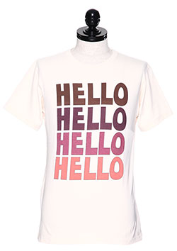 M CREW NECK T-SHIRTS (HELLO)