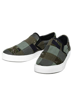 1PIU1UGUALE3 REAL MILITARY FABRIC REMAKE SLIP ON
