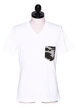 V-NECK POCKET T