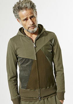 CRAZY CUTTING JERSERY HOODED PARKA