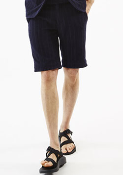 IMABARI TOWEL JERSEY SHADDOW STRIPE SHORTS
