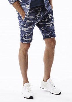 AKM ORIGINAL STRETCH JERSEY CAMO SOLID HALF