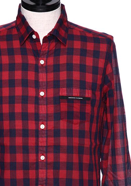 RESOUND CLOTHING MARK CHECK SHIRT