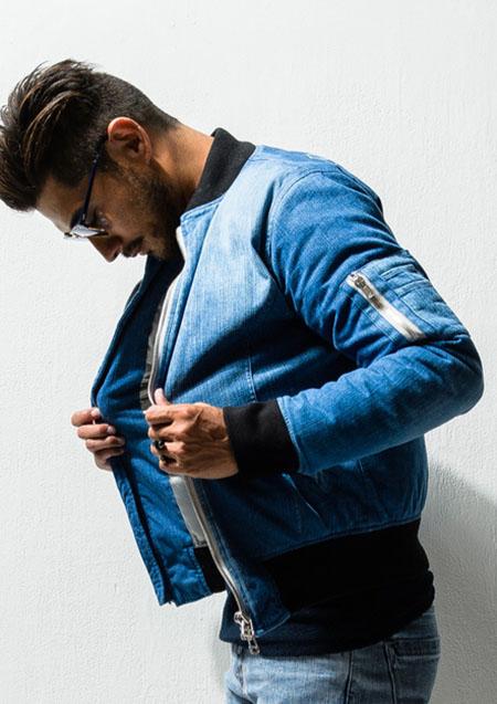 RESOUND CLOTHING MA DENIM DOWN JACKET