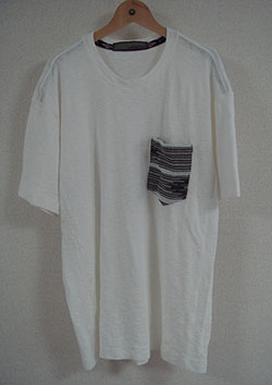 AYUITE コットンラグ リバースデザイン半袖 胸ポケット