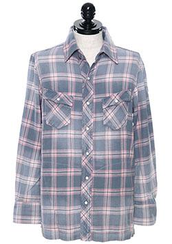SWシャツ裾フラット USED加工