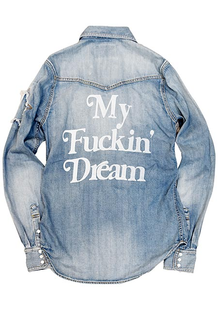 M × Marbles DENIM SHIRT ( My Fuckin' Dream )