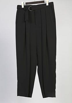 GlaabenD ジョーゼットストレッチ WIDE PANTS