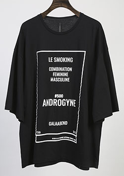 GlaabenD 30/1シルケット天竺 OVER SIZE PRINT TEE