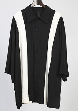 GlaabenD 60sレーヨンツイル OVER SIZE STRIPE SHIRTS