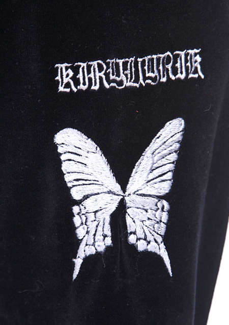 kiryuyrik × HardiVague COTTON VELOR EMBROIDERY TRACK PANTS