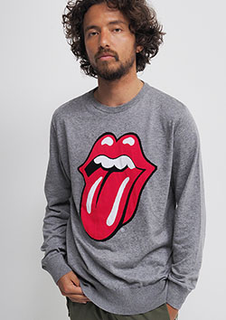 THE ROLLING STONES INTARSIA KNIT