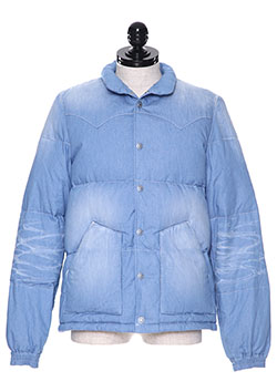 USED WASH CHAMBRAY DOWN JACKET