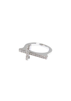 LUXURY CROSS RING