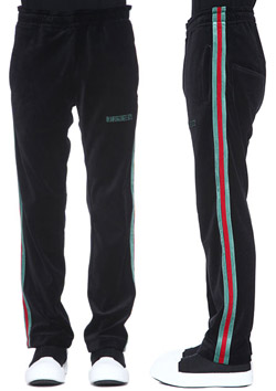 COTTON VELOR SIDE LINE TRACK PANTS