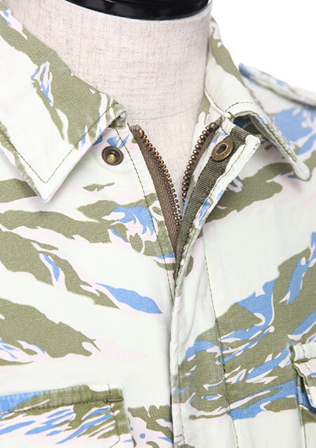 AKM ORIGINAL STRETCH GROSGRAIN 【TIGER CAMO】 COMBAT ARMY