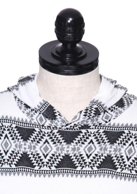 ORIGINAL TRIBAL BORDER L/S HOODED