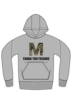 M PULLOVER HOOD PARKA ( M THANK YOU FRIENDS )