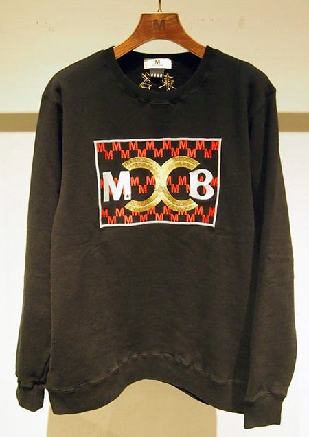 × BAGARCH WASHED EMBROIDERY SWEAT SHIRTS ( M×BGHB )