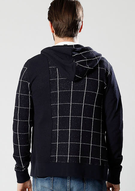 SWITCHING HOODED PARKA