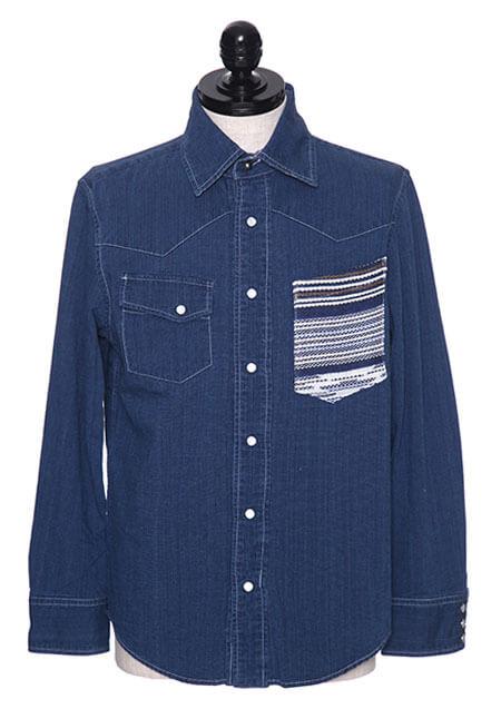 コットンラグ MWシャツ 胸ポケット