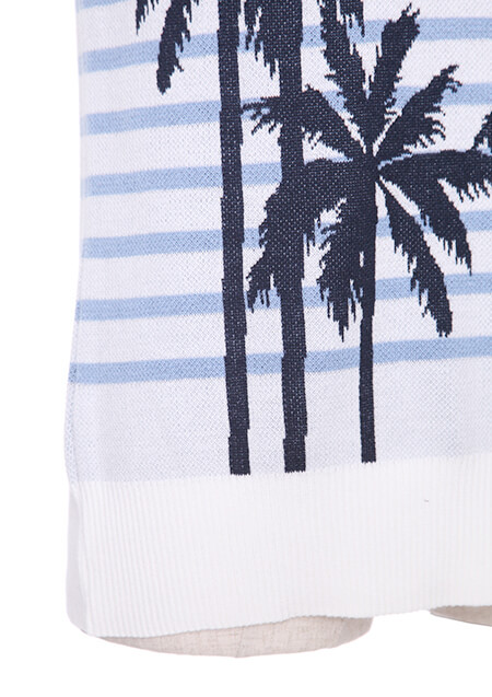 ITALY COTTON BY EMILCOTONI PALM BORDER CREW