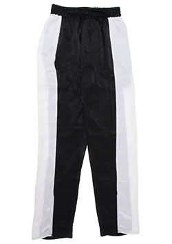 WIDE LINE SATIN PANTS