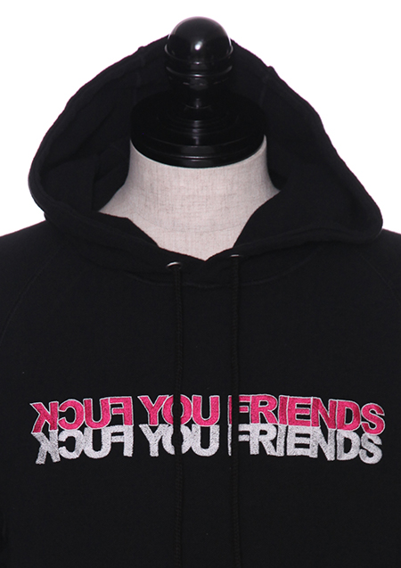 REVERSE SWEAT PULL OVER HOODIE (FUCK YOU FRIENDS)