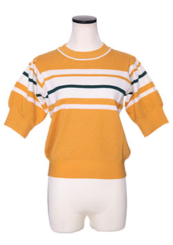 PUFF SLEEVE LINE KNIT