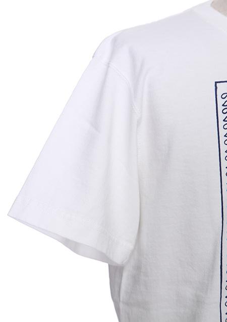 プリント刺繍ジャージ クルーネック ポケット付
