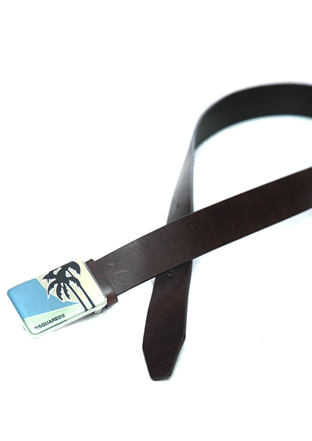 BELT WITH PALM DESIGN ON THE BUCKLE