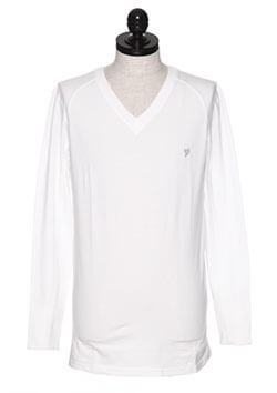 MIDDLE V-NECK LONG SLEEVE