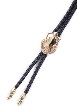 LEATHER LOOP TIE