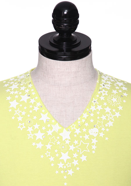 WISHING ON A STARS CUTOFF V NECK TEE