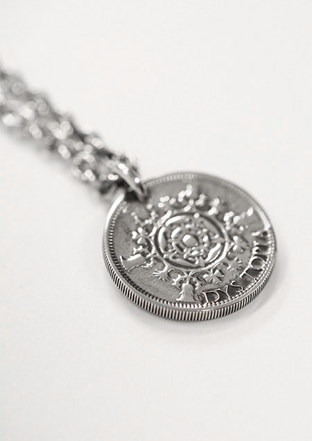 ×Jeda ANTIQUE COIN CHARM NECKLACE SILVER 925